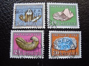 Switzerland-Stamp-Yvert-and-Tellier-N-661-A-664-Obl-A1-Stamp-Switzerland