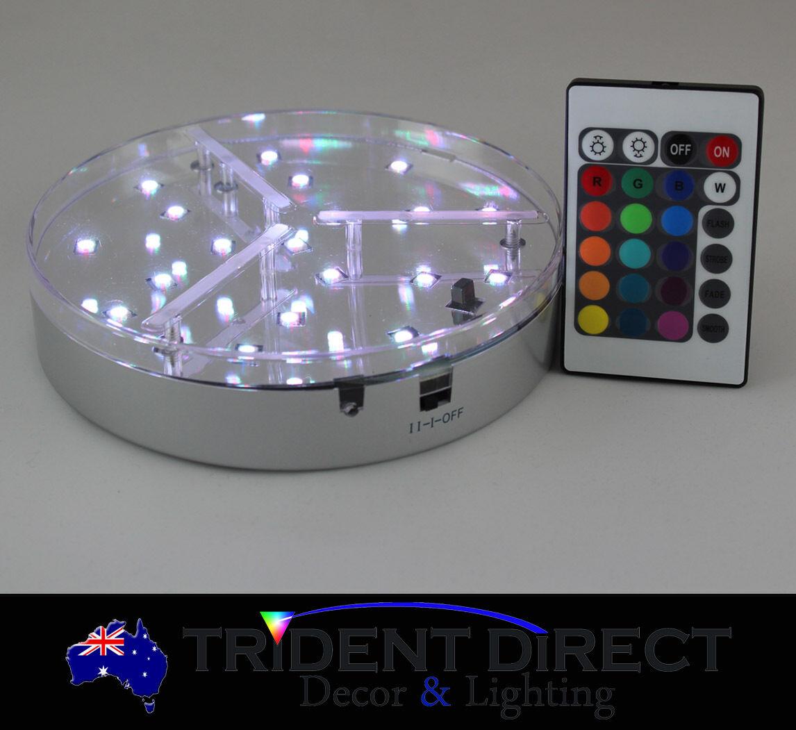 "Bulk 12x LED Centrepiece Base Lights White 7/"""