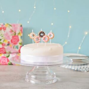 Image Is Loading 3D Doughnut Cake Candles Birthday Topper