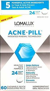 Lomalux Acne Pill Homeopathic Oral Medication, 60 chewables Bottoms Up Anal Comfort Lube - 6.3 oz