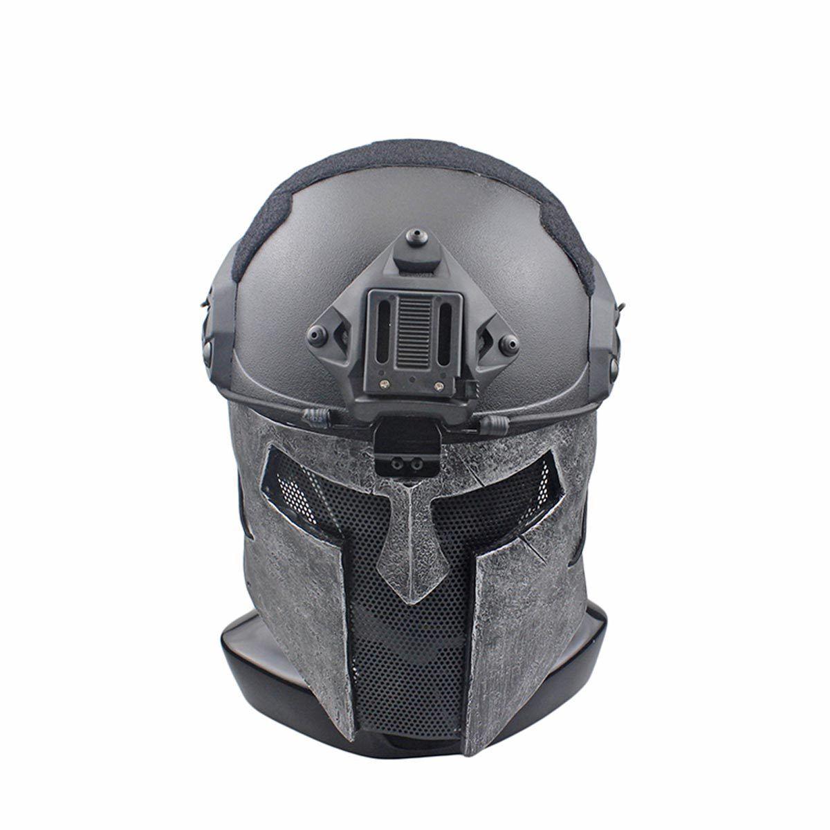 NEW Wire Mesh Glass Fiber CS Resin Airsoft CS Fiber Half Face Sparta Mask For Helmet M142 75656e