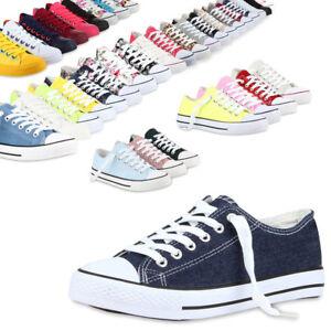 Damen-Herren-Sneakers-Sportschuhe-97316-Freizeit-Stoffschuhe-Gr-36-41-Mode
