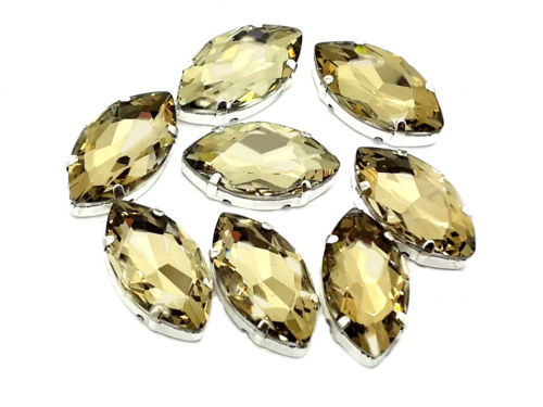 Teardrop Pear Shape Navette Oval EIMASS® 3511 Single Stone Setting Crystals