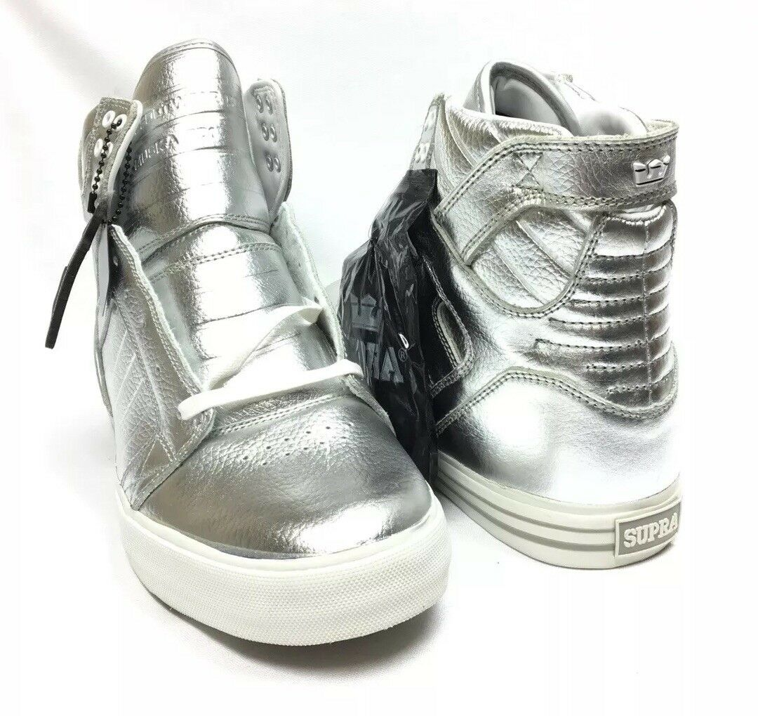 Supra Footwear Skytop NS exclusives Argent Homme 10 New in Box