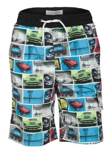 Brand New Boys Minoti Swim Shorts Multicolour Cars Holiday Trunks RRP £12.99!!!