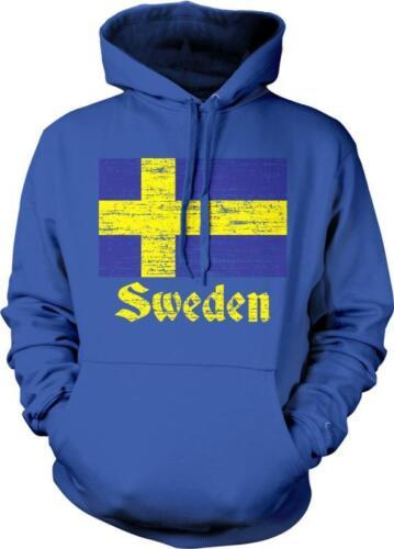 Sweden Flag Text Sverige Swedish Pride Svensk Flagga Stolthet Hoodie Pullover