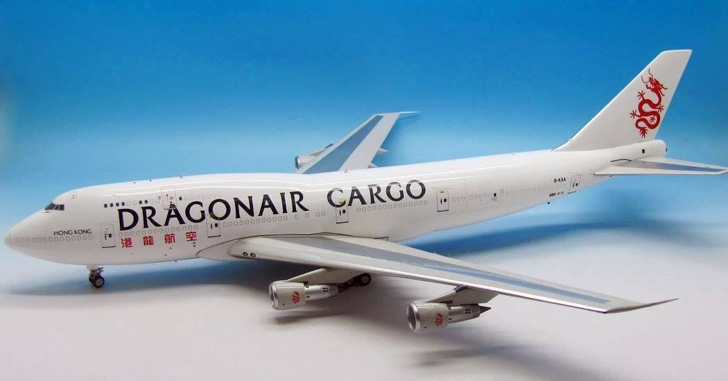 JFOX JF7473005 1 200 DRAGONAIR CARGO BOEING 747-300 B-KAA W STAND LTD EDN 60PCs