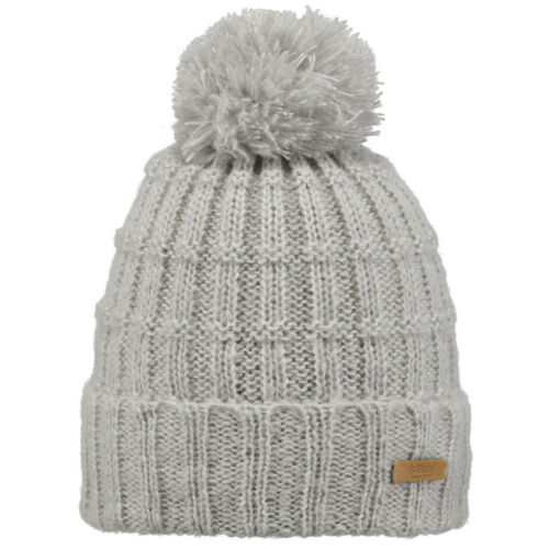 Barts Caprice Damen Bommelmütze Strickmütze Beanie Heather Grey