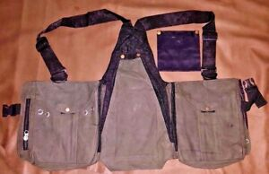 Falconry-Leather-Vest-Hawking-Hunting-Bird-Handling-Green-Nubuck-Leather