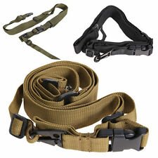 Adjustable Hunting 3 Point Sling Bungee Tactical Strap System For Rifle Gun KY