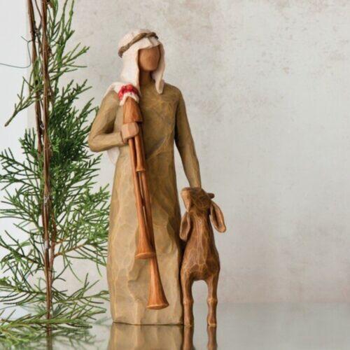 ZAMPOGNARO ORIGINAL SCULPTURE HAND PAINTED WILLOW TREE SUSAN LORDI