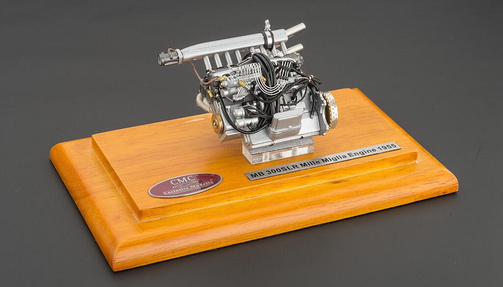 Motor mit display - schaufenster für 1955 mercedes slr mille miglia 1   18 von cmc 120