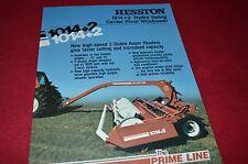Hesston 1014+2 Hydro Swing Windrower Haybine Dealer's Brochure HW-1-382 LCOH