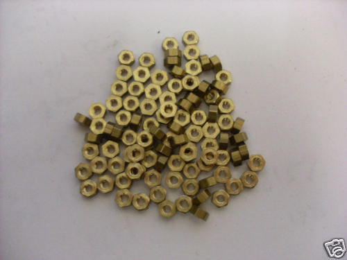 8 BA Brass Nuts pack of 50