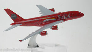 Coca-Cola-Airbus-A380-Model-Plane-ref-933-Scale-Apx-14cm-Long-Diecast-Metal