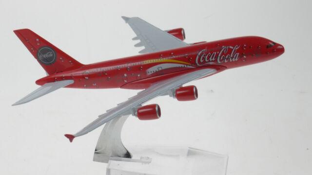 Coca Cola Airbus A380 Model Plane ref#933 Scale Apx 14cm Long Diecast Metal