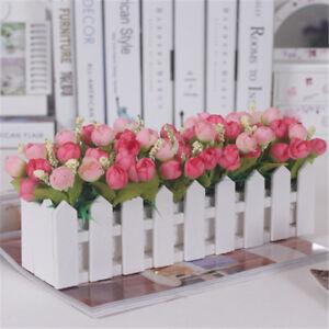 Image is loading A-Level-Wooden-Fence-Vase-With-Foam-For- & A-Level Wooden Fence Vase With Foam For Artificial Flower Vase ...