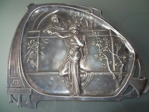 ancien-plat-en-metal-argente-signe-WMF-style-Jugendstil-art-nouveau-1890-1919