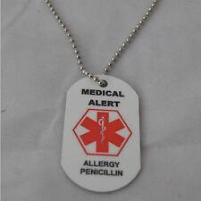 Medical Alert Necklace for Penicillin Allergy
