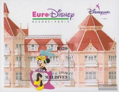 Postfrisch 1992 Vergnügungspark Euro-disney Modische Und Attraktive Pakete Malediven Block268 kompl.ausg.