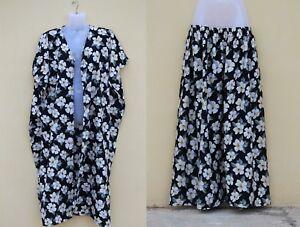 Women-039-s-Duster-Cardigan-Skirt-Set-Pair-Plus-size-Beach-Casual-house-wear-dress