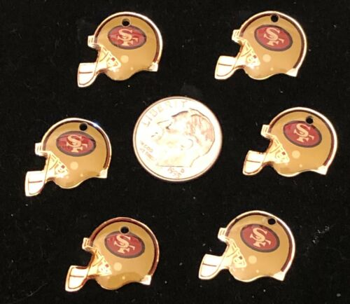 Wholesale Lot of 6 San Francisco 49ers Logo Charms Great for Making Jewelry