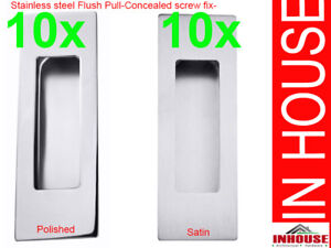 10xRectangle-Stainless-steel-flush-pull-handles-Satin-and-Polished-120x40mm