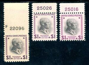 USAstamps-Unused-VF-US-1-Presidential-Plate-Sctt-832-832c-832g-Magenta-OG-MNH