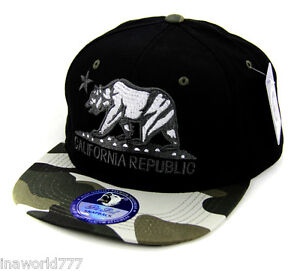 New Era California Republic Camo Maroon Snapback Cap 9fifty M L Limited Edition