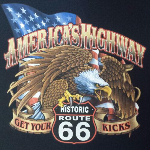 T-Shirt #790 HISTORIC ROUTE 66 BIKER OLDSCHOOL HOTROD Dragster Pin Up V8 USA