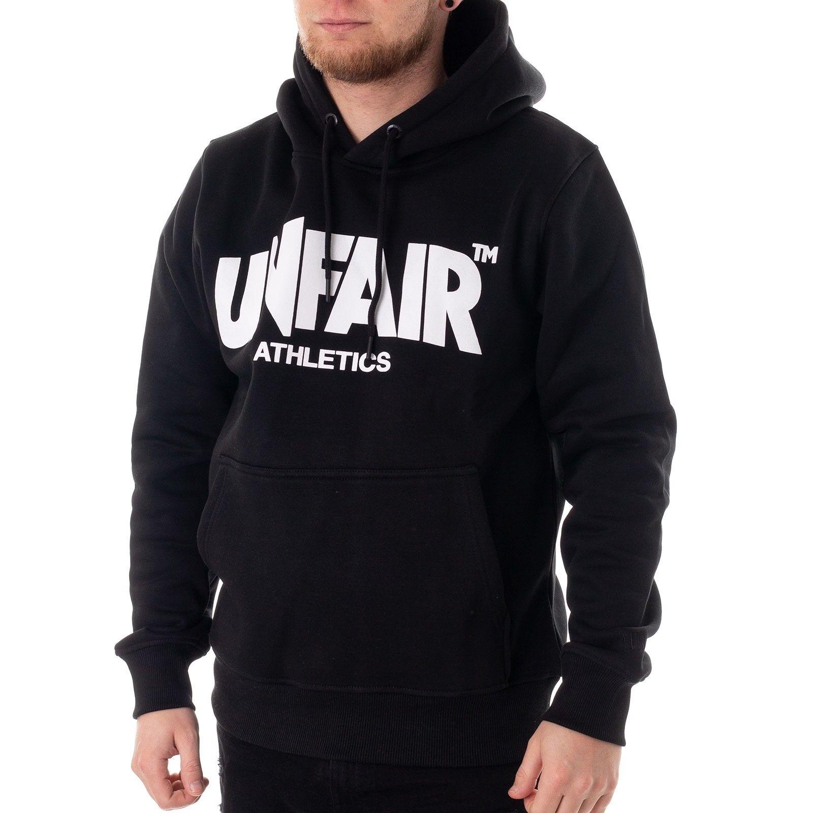 Unfair Classic Label Hoodie Herren Sweater schwarz 34940