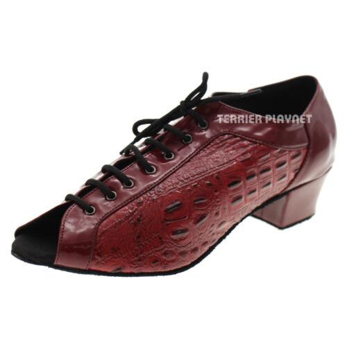 TPS Red Patent Latin Ballroom Salsa Custom-made Dance Shoes D1047