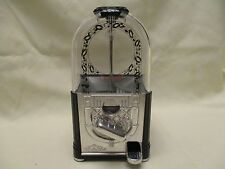 "Carousel Jukebox Vintage Gumball Vending Machine Black Excellent Condition 9.5"""