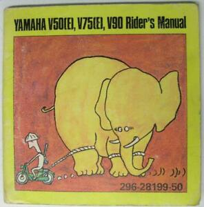 YAMAHA-V50-E-V75-E-V90-1972-296-28199-50-Moped-Owners-Handbook