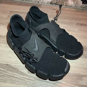 c244954eec8f Nike Footscape Flyknit Shoes DM Triple Black Men s Size 9 AO2611-003 ...