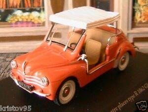 Renault 4cv Decapotable R1062 Ghia Jolly 1961 Eligor 143 Hachette