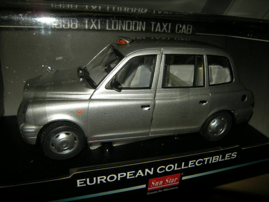 1 18 Sun Star tx1 londres Taxi Taxi Taxi Cab 1998 Platinum plata OVP 38d542