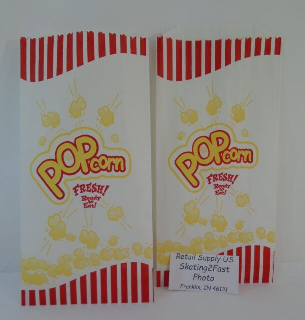 Qty 50 Popcorn Snack 1.5 oz Paper Bags 5