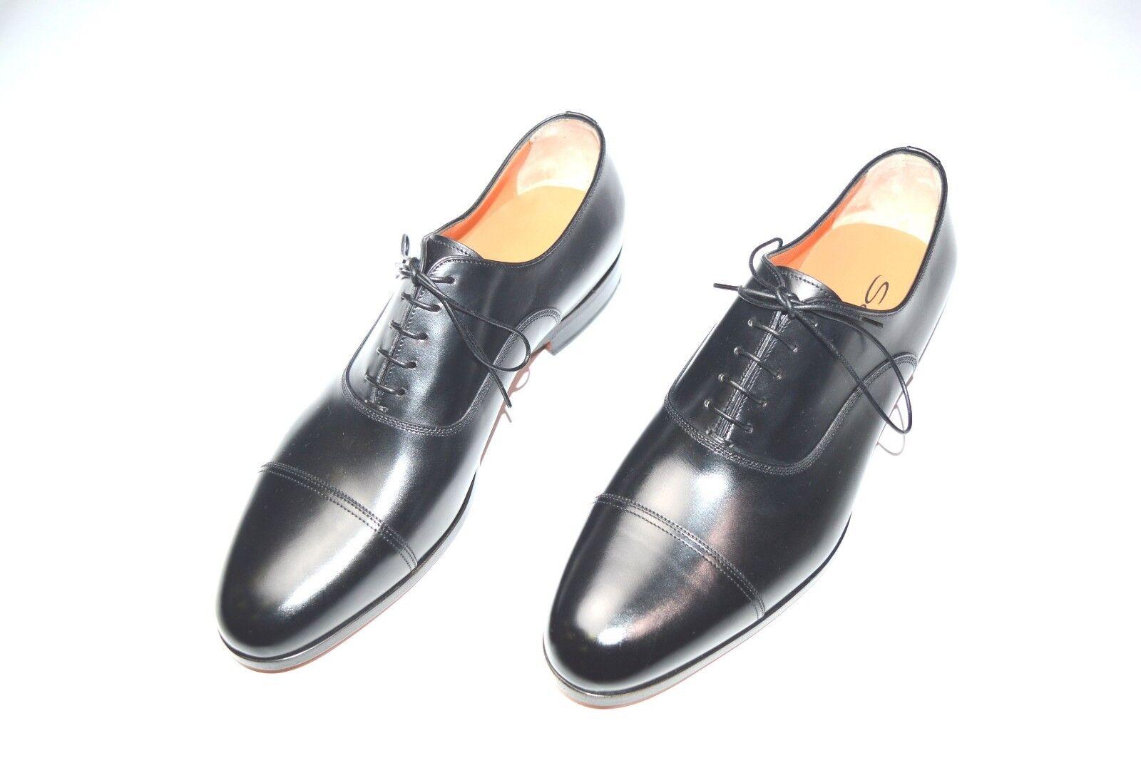 NEW SANTONI Dress Black Leather shoes  SIZE Eu 46 Uk 12 Us 13 (29R)