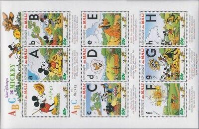 Mali 1622-1648 Kleinbögen Postfrisch 1996 Walt-disney-figuren Pure Whiteness kompl.ausg.