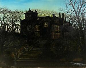 School-English-Victorian-of-The-End-Of-19eme-Century-Manor-at-Dusk