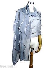 Vintage NewExtra Large Fashion Ruffle 100% Silk Long Scarf Wrap Evening Shawl