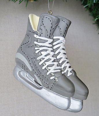 Ice Skates Resin Christmas Ornament Silver Gray - New   eBay