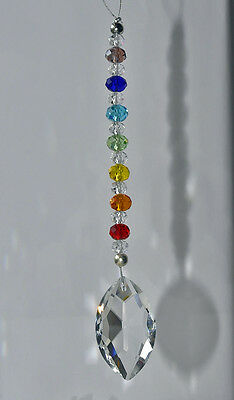 Crystal Chakra balance rear view mirror car charm feng shui suncatcher ornament
