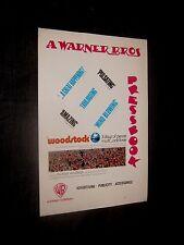 Original British WOODSTOCK PRESSBOOK Santana HENDRIX Joplin COCKER Who ALVIN LE
