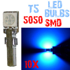 10 T5 5050 SMD LED Dashboard Gloeilampen Panel Auto 12V Blauw 4B12 4B12.10 XINO