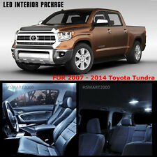 14PCS Cool White LED Bulbs Interior Package Kit for 2012 Toyota Tundra