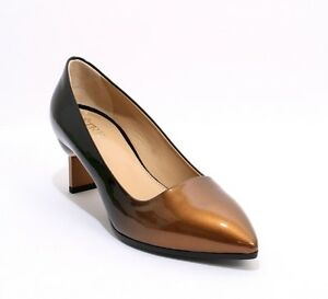 Etre-323-Black-Bronze-Patent-Leather-Ombre-Fade-Heels-Pumps-39-US-9