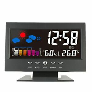 Alarm-clock-weather-station-LCD-colour-display-sound-activated