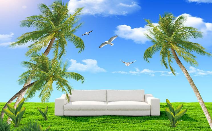 3D Sofa Rasen Rasen Rasen Baum 743 Tapete Wandgemälde Tapete Tapeten Bild Familie DE Summer | Charmantes Design  | Lassen Sie unsere Produkte in die Welt gehen  |  7fc6d4